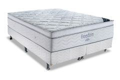 Conjunto Box: Colchão Pocket Freedom Ortobom  + Cama Couríno White